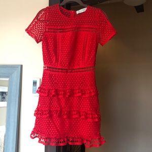 Red Ruffle Dress
